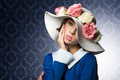 spring woman posing with fashion hat - PhotoDune Item for Sale