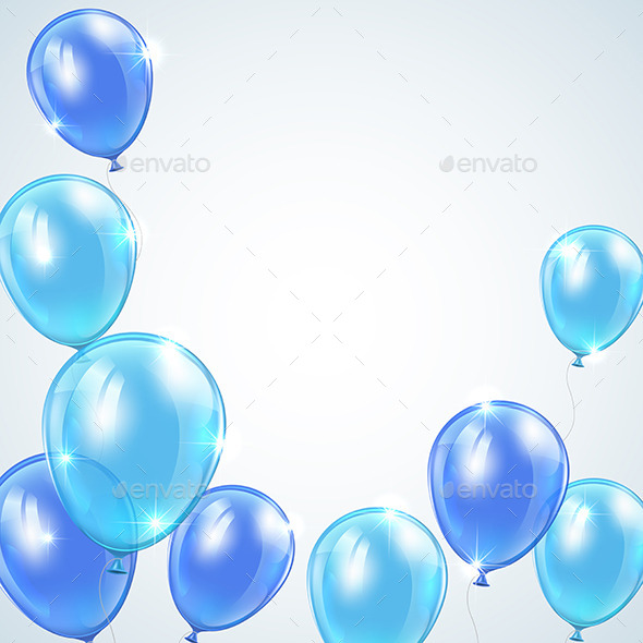 GraphicRiver Blue Balloons 10979538