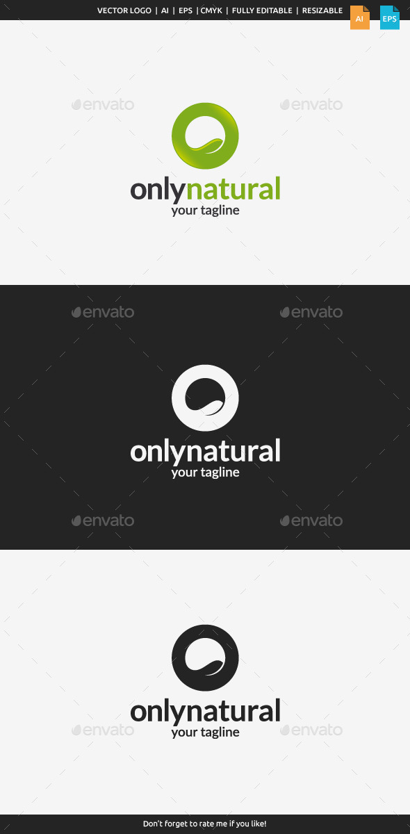 GraphicRiver Only Natural Logo 10979838