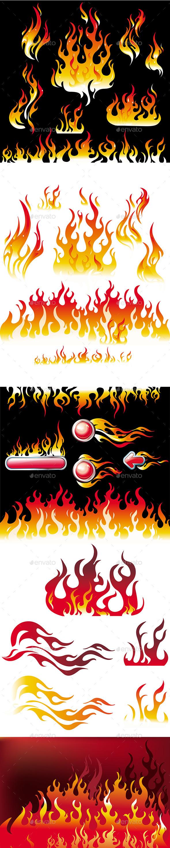 GraphicRiver Fire Elements 10979952