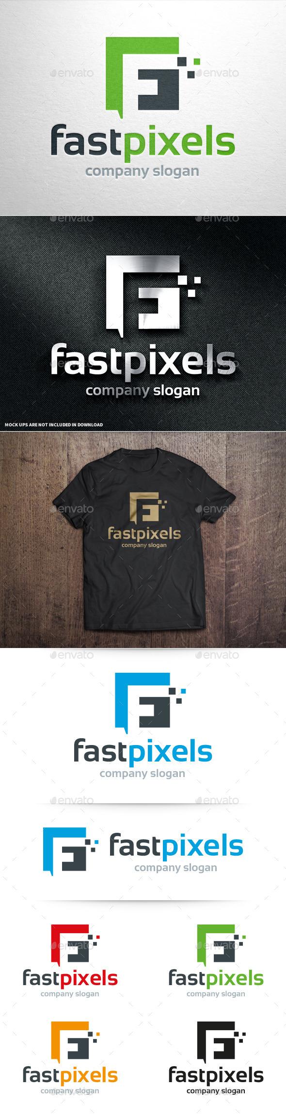 GraphicRiver Fast Pixels Letter F Logo 10980525