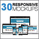 30 Responsive Mockups - GraphicRiver Item for Sale