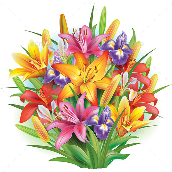 GraphicRiver Bouquet of Flowers 10980620