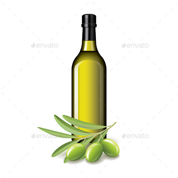 GraphicRiver Olive Oil Bottle 10980622