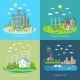 Eco City Design Concept Set - GraphicRiver Item for Sale