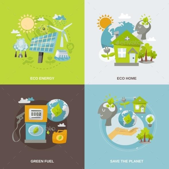 GraphicRiver Eco Energy Flat 10980631