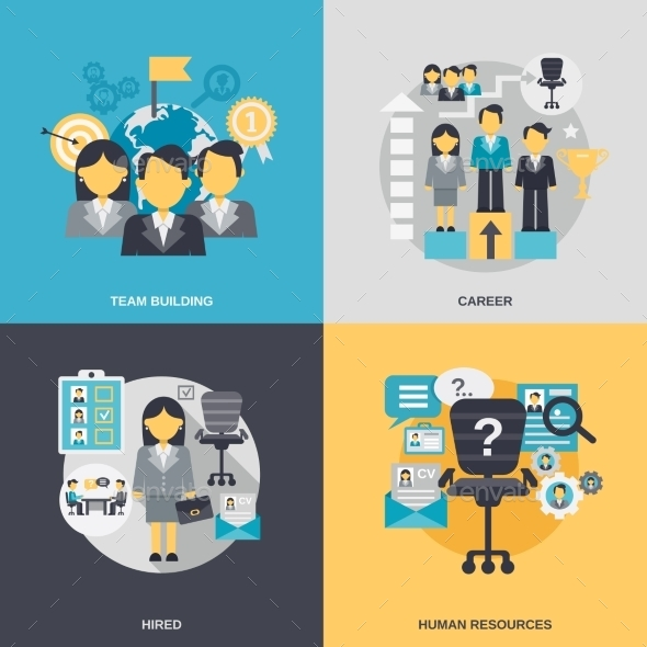 GraphicRiver Human Resources Flat 10980637
