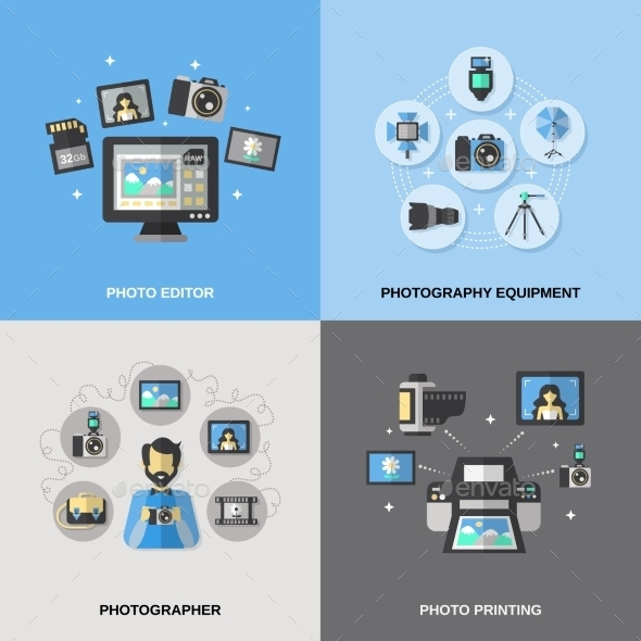 GraphicRiver Photography Icons Flat 10980639