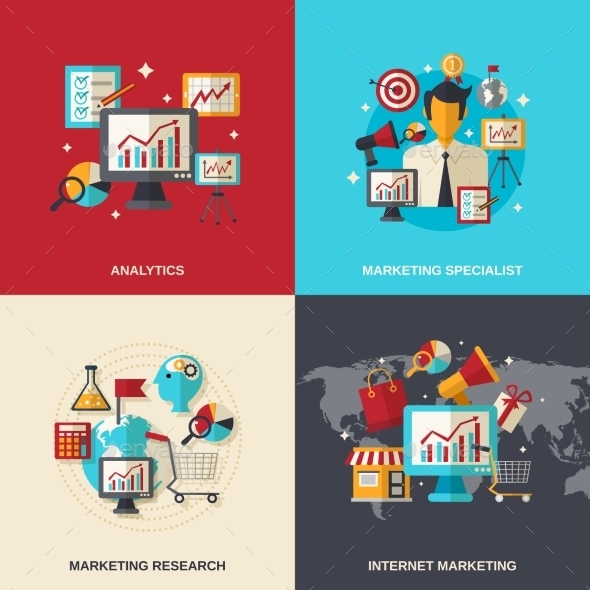 GraphicRiver Marketing Flat Icons 10980642