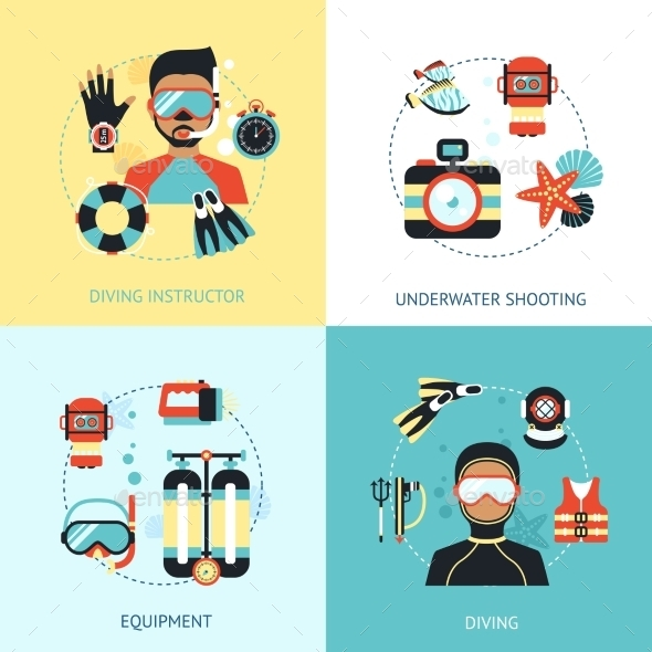 GraphicRiver Diving Design Concept 10980643