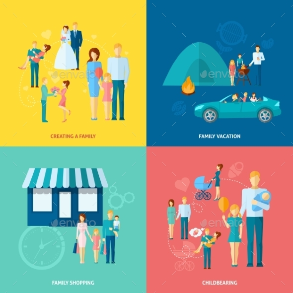 GraphicRiver Family Concept Set 10980685