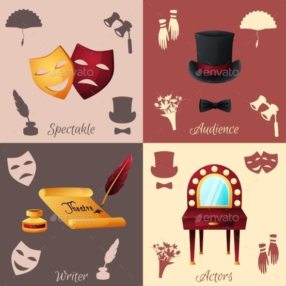 GraphicRiver Theater Concept Set 10980690