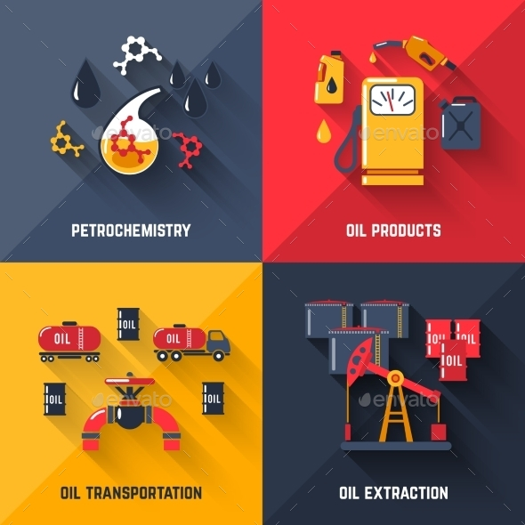 GraphicRiver Petroleum Design Concept Set 10980714