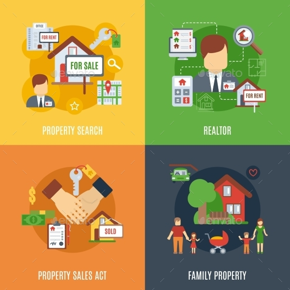 GraphicRiver Real Estate Flat Set 10980717