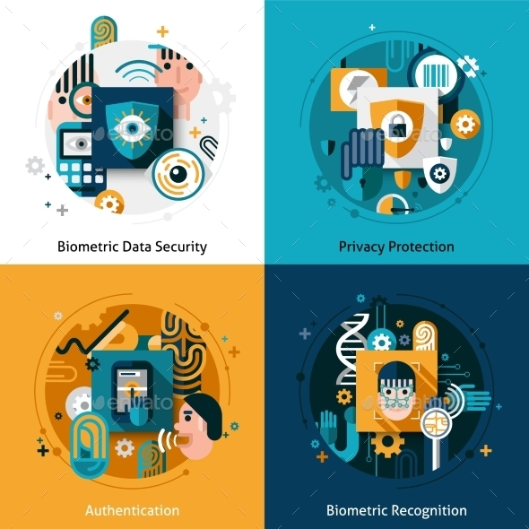 GraphicRiver Biometric Authentication Set 10980789