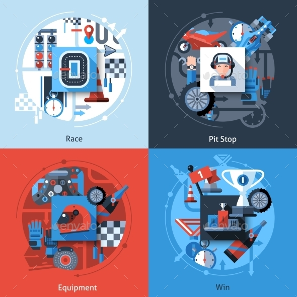 GraphicRiver Racing Icons Set 10980791