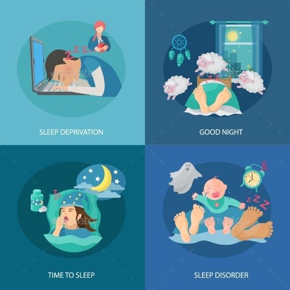 GraphicRiver Sleep Time Flat 10980836