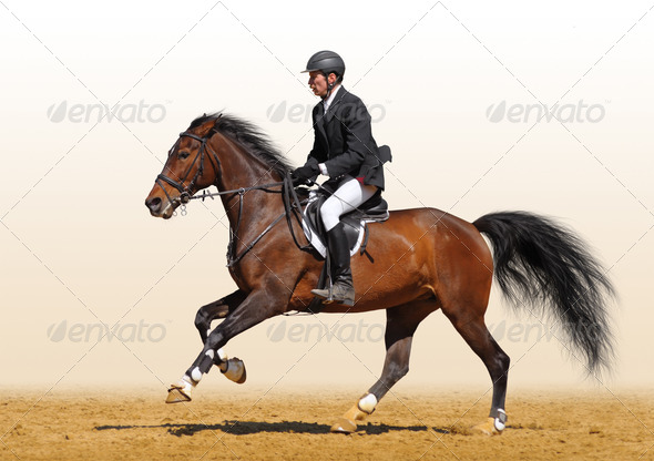 Rider Running - Stock Photo - Images