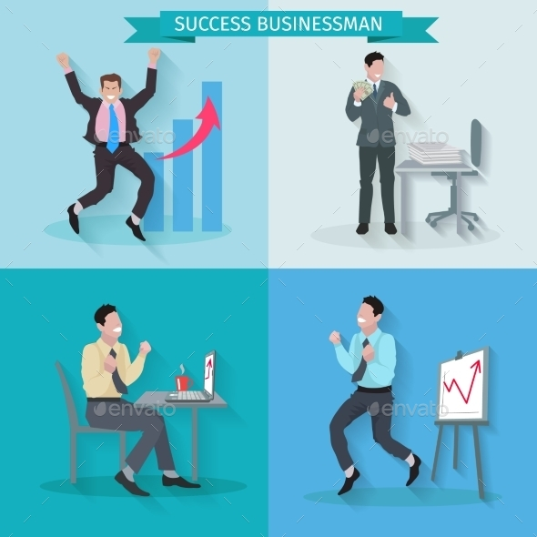 GraphicRiver Successful Businessman Set 10980886