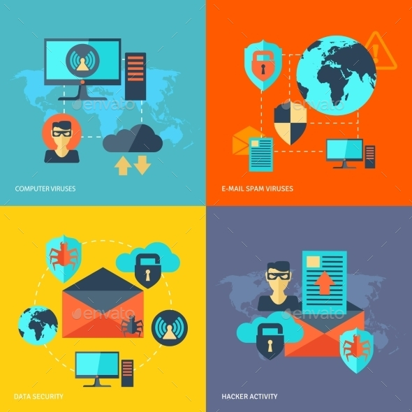 GraphicRiver Network Security Concept 10980889