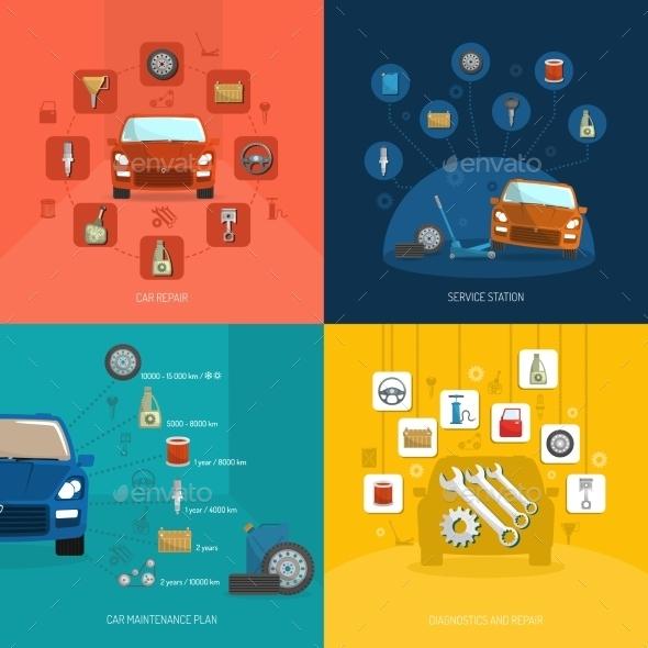 GraphicRiver Auto Service Design Concept 10980896
