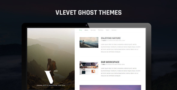 ThemeForest Vlevet Traveler Ghost Theme 10980988