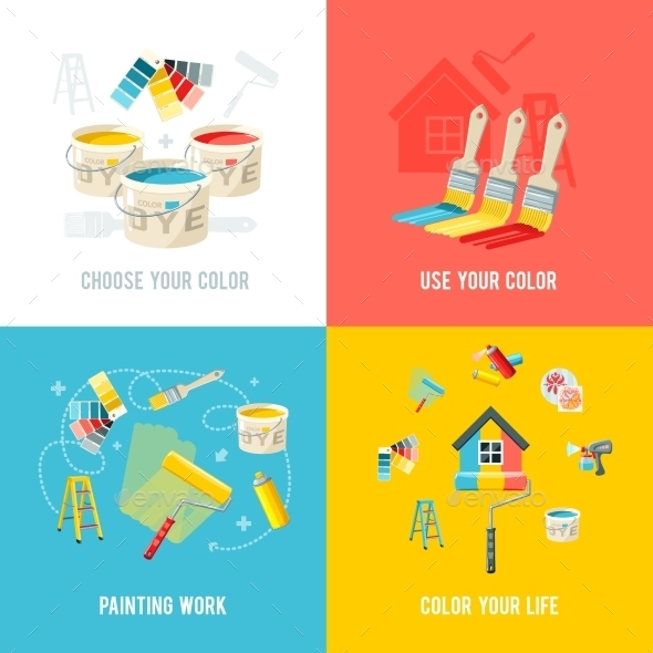 GraphicRiver Painting Work Design Concept 10981085
