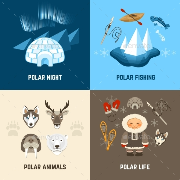 GraphicRiver Chukchi Design Concept Set 10981091