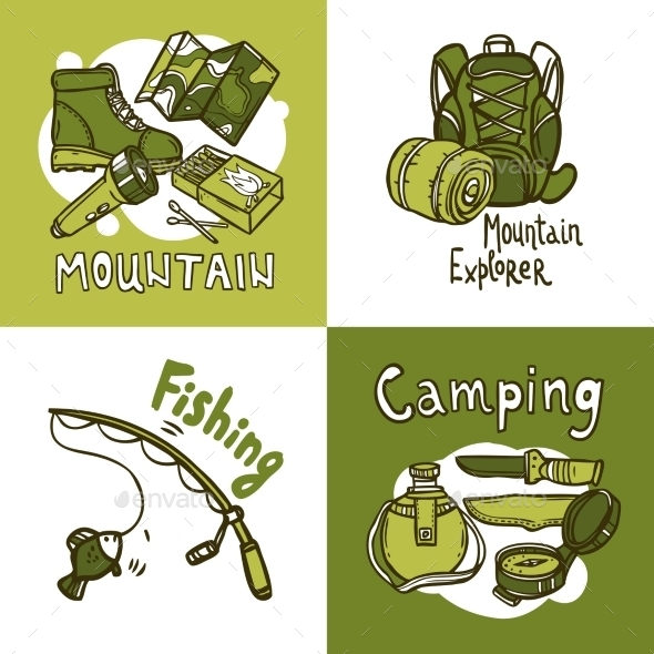 GraphicRiver Camping Design Concept 10981098