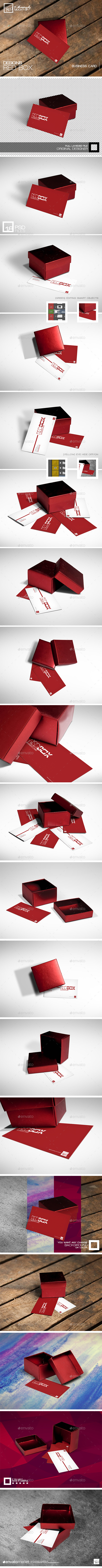 GraphicRiver Mock-up 009 Red Box 10981113