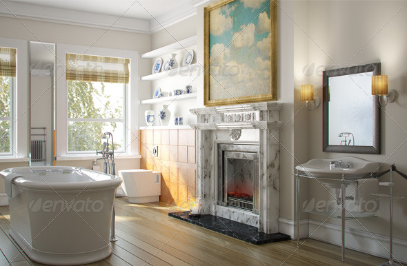 Bathroom Interior - 3DOcean Item for Sale