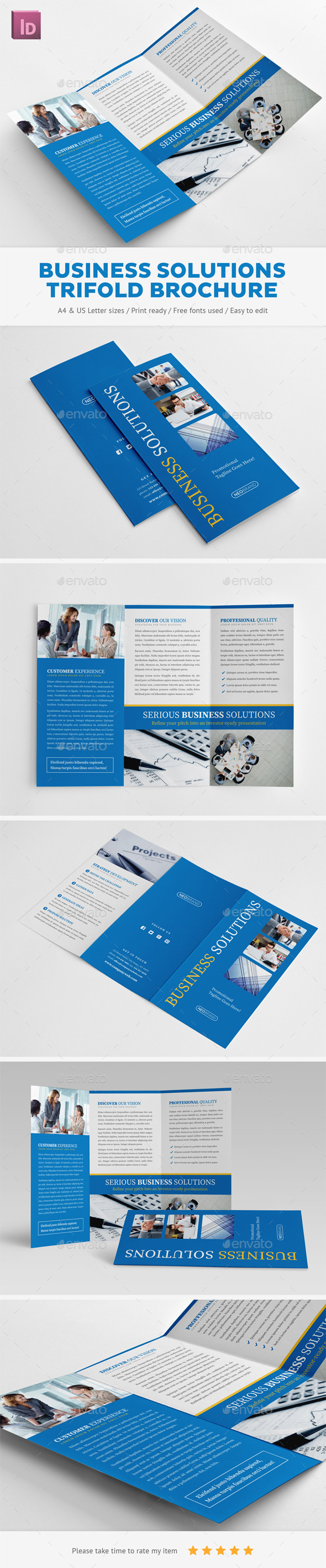 GraphicRiver Business Solutions Trifold Brochure 10981133