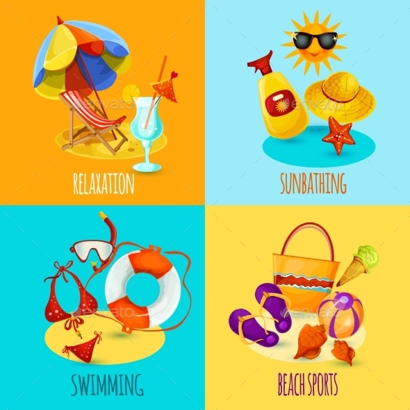 GraphicRiver Summer Holidays Set 10981137