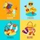 Summer Holidays Set - GraphicRiver Item for Sale