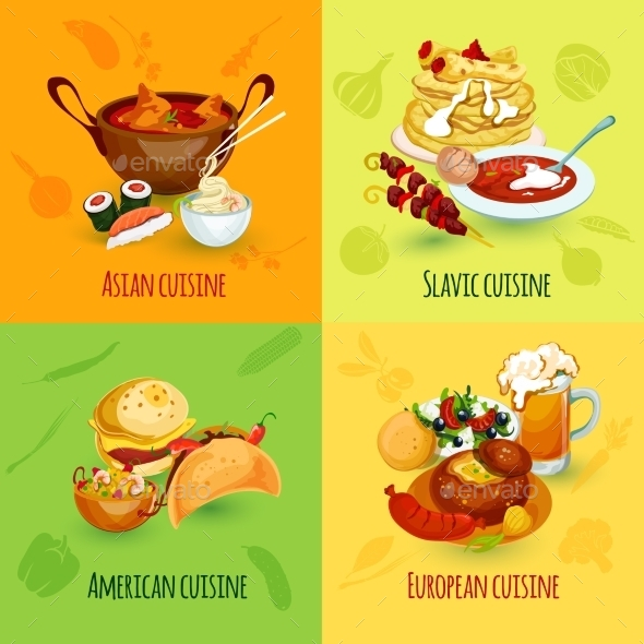 GraphicRiver World Food Set 10981147