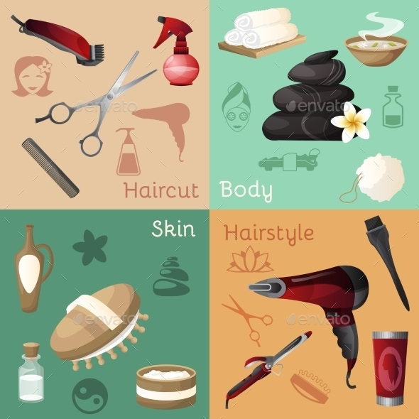 GraphicRiver Beauty Salon Set 10981170