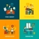 Coworking Center Flat - GraphicRiver Item for Sale