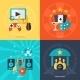 Entertainment Flat Icons Set - GraphicRiver Item for Sale