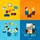 Partnership Flat Set - GraphicRiver Item for Sale