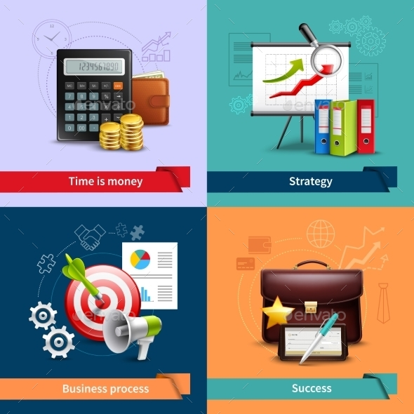 GraphicRiver Business Realistic Set 10981217