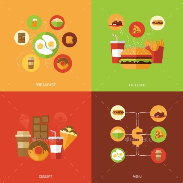 GraphicRiver Fast Food Design Concept 10981218