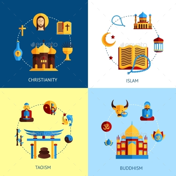 GraphicRiver Religion Design Concept Set 10981231