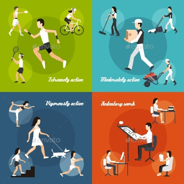 GraphicRiver Physical Activity Set 10981236