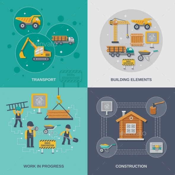 GraphicRiver Construction Flat Set 10981237
