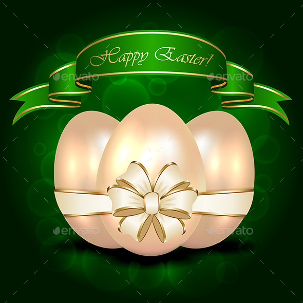 GraphicRiver Decorative Easter Egg with Ribbon 10981456