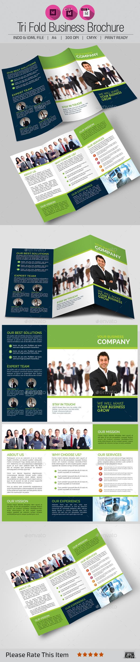 GraphicRiver Tri Fold Brochure Template 10981471