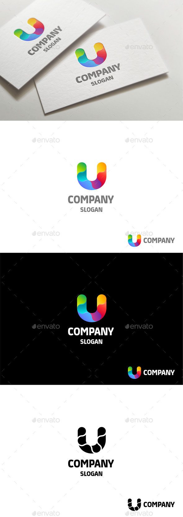 GraphicRiver Colorful Letter U 10978002