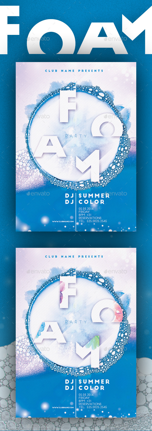GraphicRiver Foam Party Flyer Poster 10981470