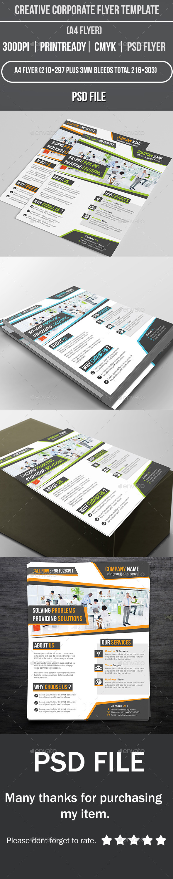 GraphicRiver Creative Corporate Flyer Template 10981502