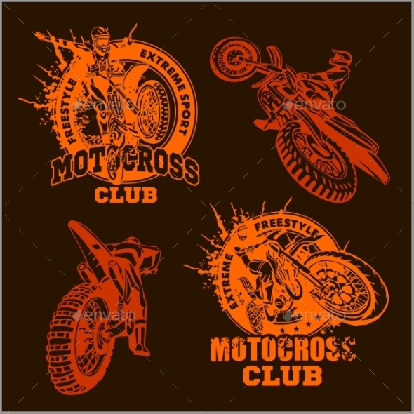 GraphicRiver Motocross Sport Emblems 10981563
